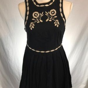 Free People embroidered cotton dress size 0